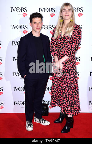Hannah Reid and Dan Rothman during the Annual Ivor Novello Songwriting Awards at Grosvenor House in London. - Stock Image