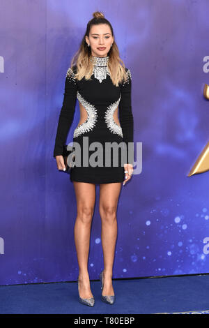 London, UK. 09th May, 2019. LONDON, UK. May 09, 2019: Montana Brown at the 'Aladdin' premiere at the Odeon Luxe, Leicester Square, London. Picture: Steve Vas/Featureflash Credit: Paul Smith/Alamy Live News - Stock Image