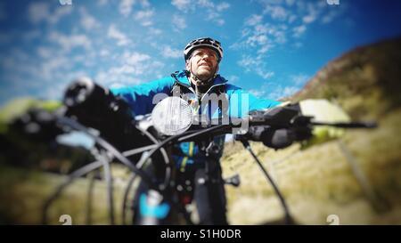 Biking selfie - Stock Image