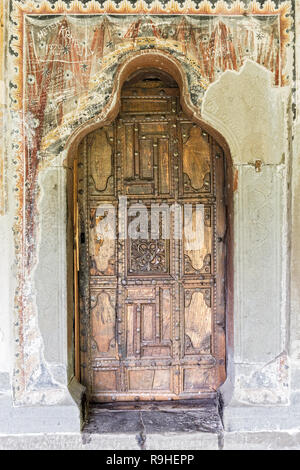 Entrance Leusa church Permet Albania - Stock Image
