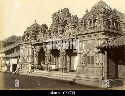 Hindu Temple, Colombo, Ceylon, ca 1880, by Skeen & Co - Stock Image