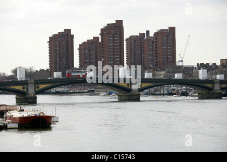 Battersea Bridge, River Thames, London, UK - Stock Image