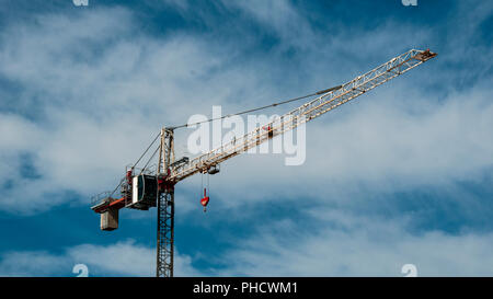 Megacrane Blue Sky Background Photography. - Stock Image