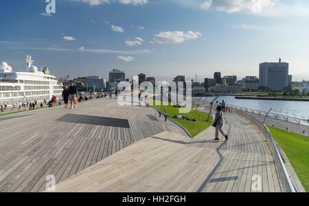 Osanbashi Pier in Yokohama, Japan. - Stock Image