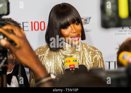 Naomi Campbell attends TIME 100 GALA on April 23 in New York City - Stock Image