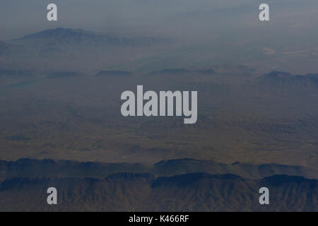 Iranian mountains from the air.  Zagros mountains - Stock Image