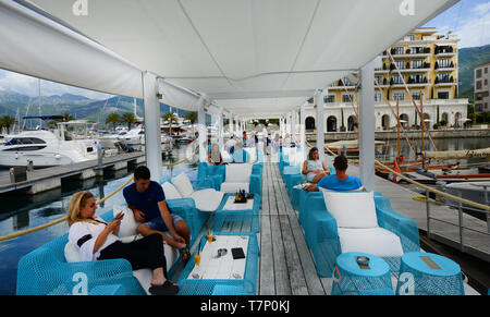 A relaxing day in Porto  Montenegro, Tivat. - Stock Image
