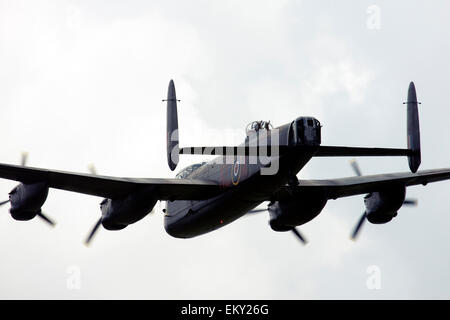 Avro 683 Lancaster B1 UK Royal Air Force at  Farnborough International Airshow 2014 - Stock Image