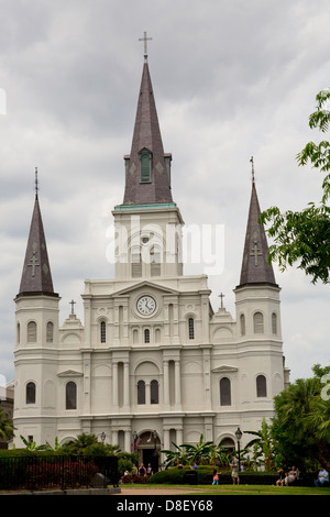 The Saint Louis Cathedral-New Orleans, Louisiana USA - Stock Image