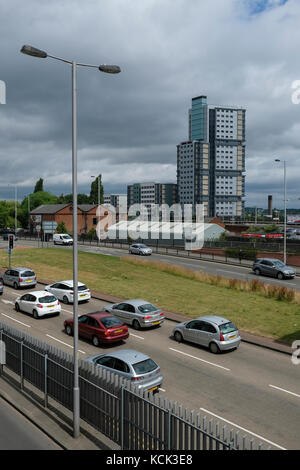 Ring road, Wolverhampton West Midlands. - Stock Image