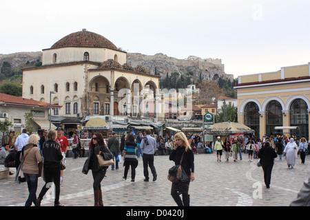 Street scene, Monastiraki, Athens - Stock Image