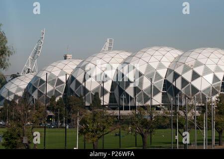 AAMI Park, or the Melbourne Rectangular Stadium features a bioframe design with a geodesic roof. Melbourne, Australia - Stock Image