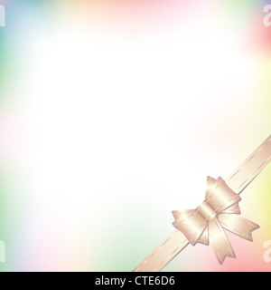 background illustration with bow in pastel colors - Stock Image
