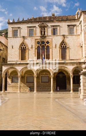Elk192-3403v Croatia, Dubrovnik, 16th c Sponza Palace - Stock Image