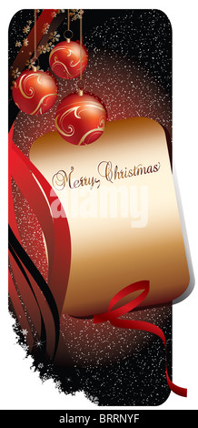 Merry christmas background banner - Stock Image