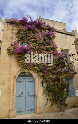 Buildings in the walled city of Mdina in Malta - Stock Image
