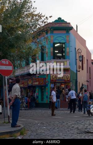 La Boca street scene - Stock Image