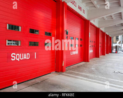Fire station. Chicago, Illinois. - Stock Image