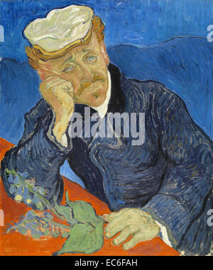 Van Gogh's Portrait of Dr. Paul Gachet - Stock Image