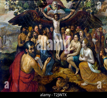 The Sacrifice of Jesus Christ, Son of God, Bringing Together and Protecting Humanity 1562  Frans Floris (1519/1520–1570) Flemish, Belgian, Belgium - Stock Image