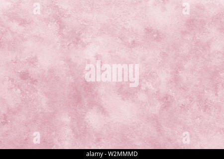 Hand painted watercolor pink abstract or natural vintage background - Stock Image