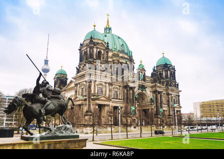 Berliner Dom. Berlin Cathedral on Museum Island - Stock Image