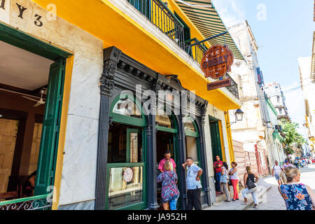 Cafe O Reilly, Dining out in havana Cuba, eating out Havana Cuba, Cuban restaurants Havana, fine dining Havana, - Stock Image