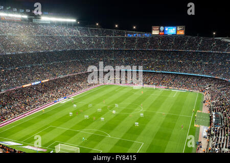 The legendary Camp Nou is home to FC Barcelona football team. With a current capacity of 99,000 (99 thousand) spectators - Stock Image