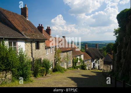 Gold Hill, Shaftesbury, Dorset, UK. - Stock Image