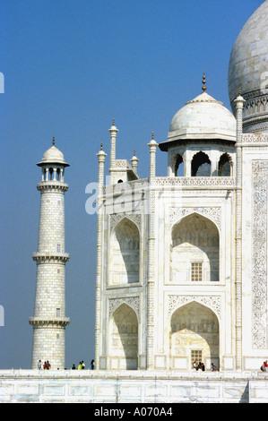 Taj Mahal Left Side Section, Rajasthan, India - Stock Image