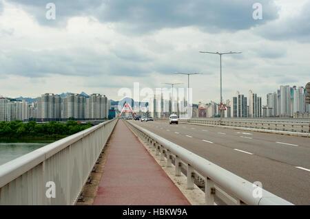 Hangang river in Seoul in summer in South Korea - Stock Image
