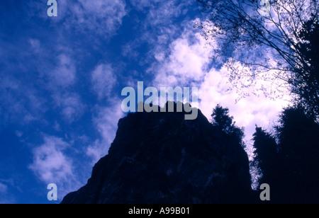 Clifs against the sky Blue Ridge Parkway North Carolina USA - Stock Image