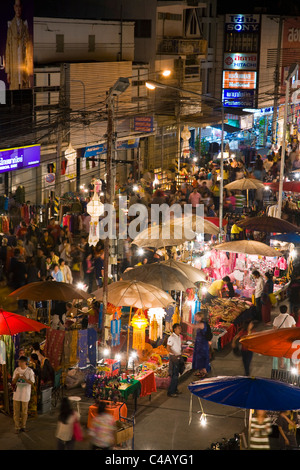 Thailand, Chiang Mai, Chiang Mai.  Handicraft stalls at the Sunday Market Walking Street which stretches along  - Stock Image