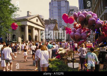 Quincy Market Boston USA - Stock Image