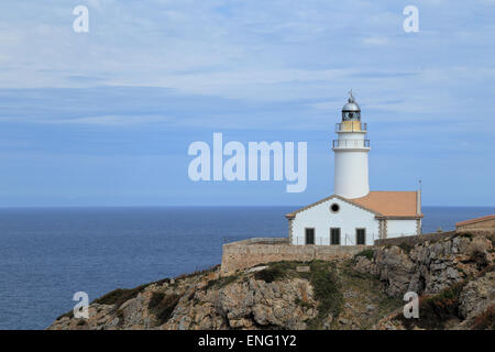 Far de Capdepera, Cala Rajada, Mallorca Island, Spain - Stock Image