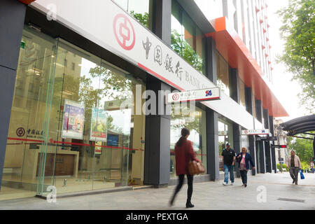 The Bank of China in Adelaide offers a variety of banking and financial services  to clients in South Australia, Australia. - Stock Image