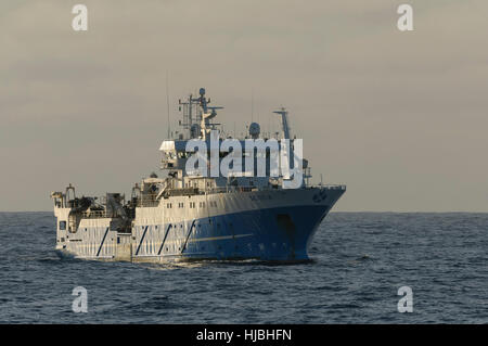 """Fishery research vessel """"Scotia"""" in Saint Magnus Bay on the west coast of Shetland. October 2012. - Stock Image"""