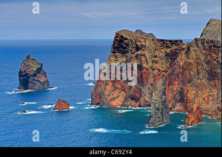 Sea Cliffs of Ponte de Lourenco - Stock Image
