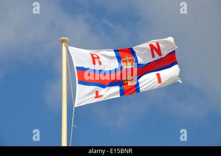 Royal National Lifeboat Institute flag, England, UK - Stock Image
