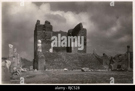 Temple of Neptune - Ostia - The Port of Rome - at the mouth of the River Tiber. The City Ruins remain and it is the site of extensive archaeological research to the present day. - Stock Image
