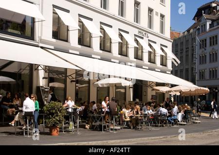 Switzerland Zurich Indian Restaurant Hilti - Stock Image