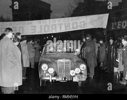 MG Magnette ZA 1956 Monte Carlo rally. Grant/Davis - Stock Image