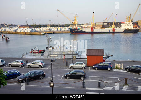 French customs boat moored at  St Malo, Brittany, France - Stock Image