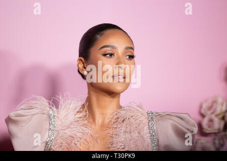 Los Angeles, USA. 30th Jan, 2019. Shay Mitchell attends the launch of Patrick Ta's Beauty Collection at Goya Studios on April 04, 2019 in Los Angeles, California. Credit: The Photo Access/Alamy Live News - Stock Image