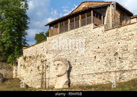'Constantinou the Great' Berat Castle Old Town Orthodox Church Albania - Stock Image