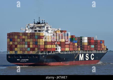 MSC Lausanne - Stock Image