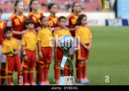 FIFA U-17 Women's World Cup Costa Rica 2014 Winner's Trophy. - Stock Image