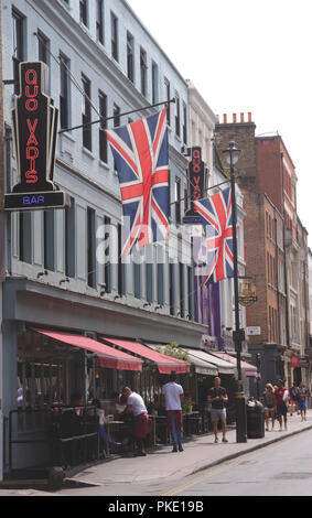Quo Vadis restaurant Dean Street Soho London - Stock Image