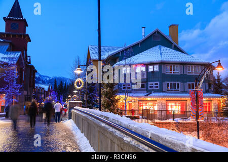 Whistler Village, Whistler Mountain, British Columbia, Canada, site of the Winter Olympics in 2010 - Stock Image