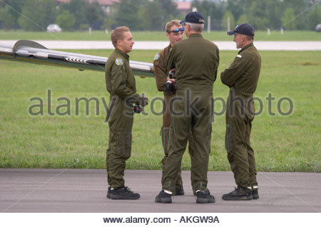 Swedish flight team, Rivolto Italia Air show 2005 - Stock Image